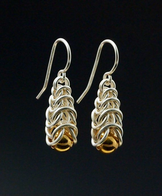 Graduated Box Earrings Chainmaille Tutorial by UnkamenSupplies