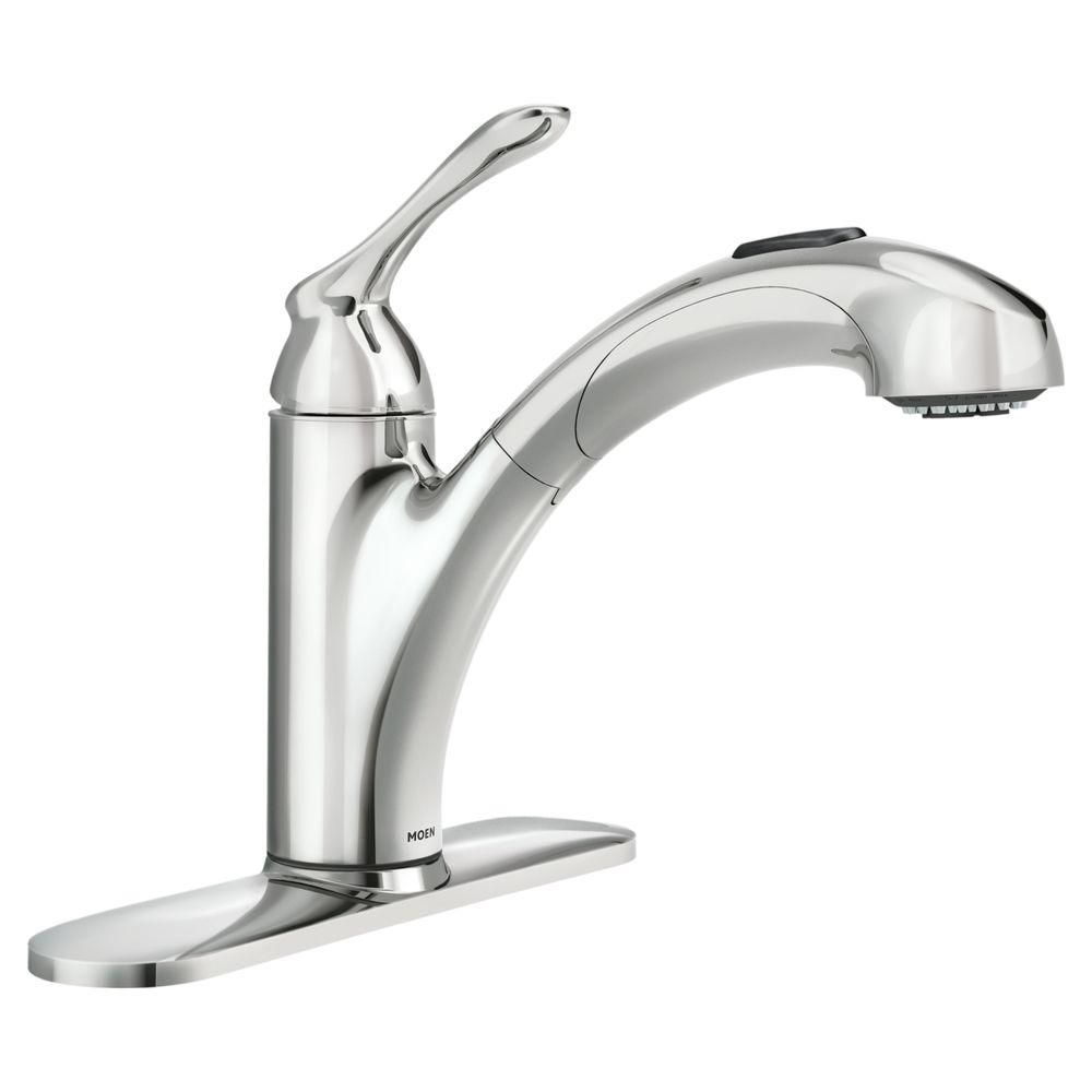 Banbury Single Handle Kitchen Faucet With Matching Pullout Wand In