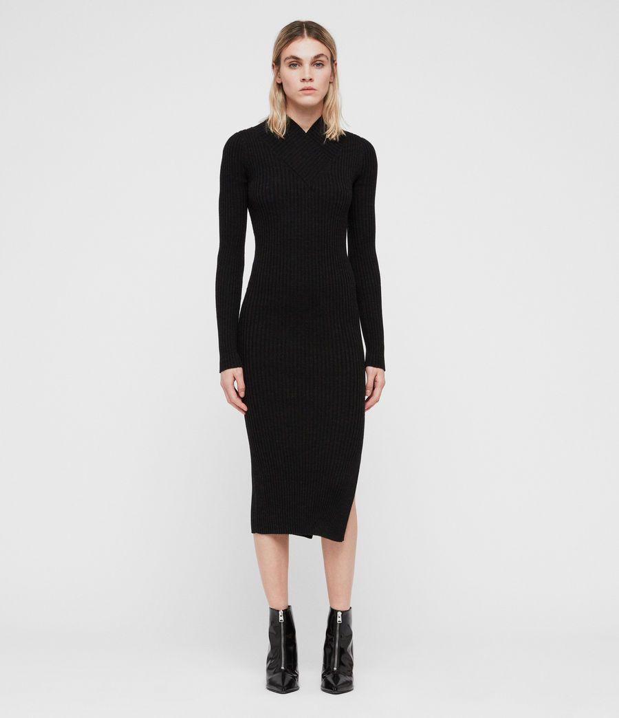 Womens Vries Dress Cinder Black Marl Image 3 Cardigan Sweaters For Women Dresses Sweaters For Women [ 1044 x 900 Pixel ]