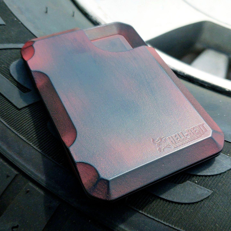 Aluminum Wallet//Credit Card Holder RFID Protection blk American Flag Punisher