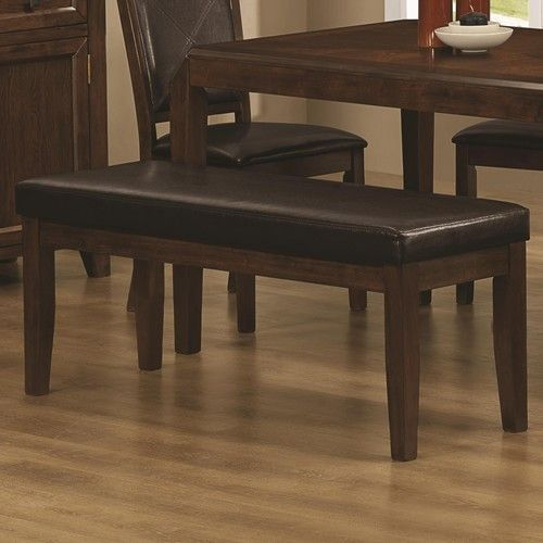 Matilda Contemporary Dining Bench with Leather Like Upholstered Seat