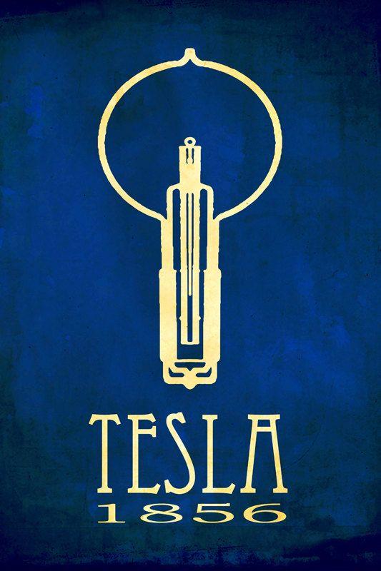 Nikola Tesla 12x18 Scientific Art Print Steampunk Rock Star Scientist Educational Poster Ac Power Wissenschaftsposter Wissenschaft Kunst Nikola Tesla