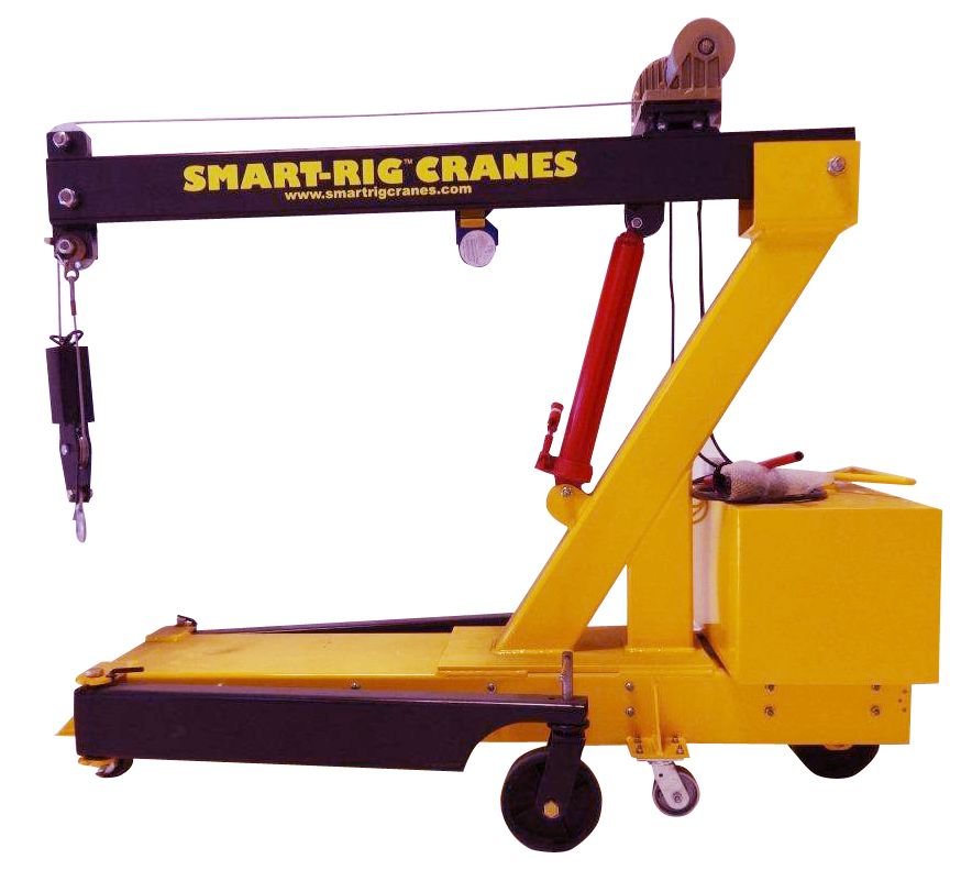 Portable Hydraulic Jib Crane : Microcranes inc t model hand crank portable mini crane