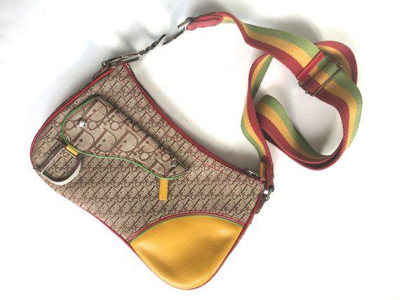 Christian Dior saddle bag Dior trotter monogram navy white logo mini saddle  bag John Galliano for Christian Dior monogramme canvas… 63d6a65c78512