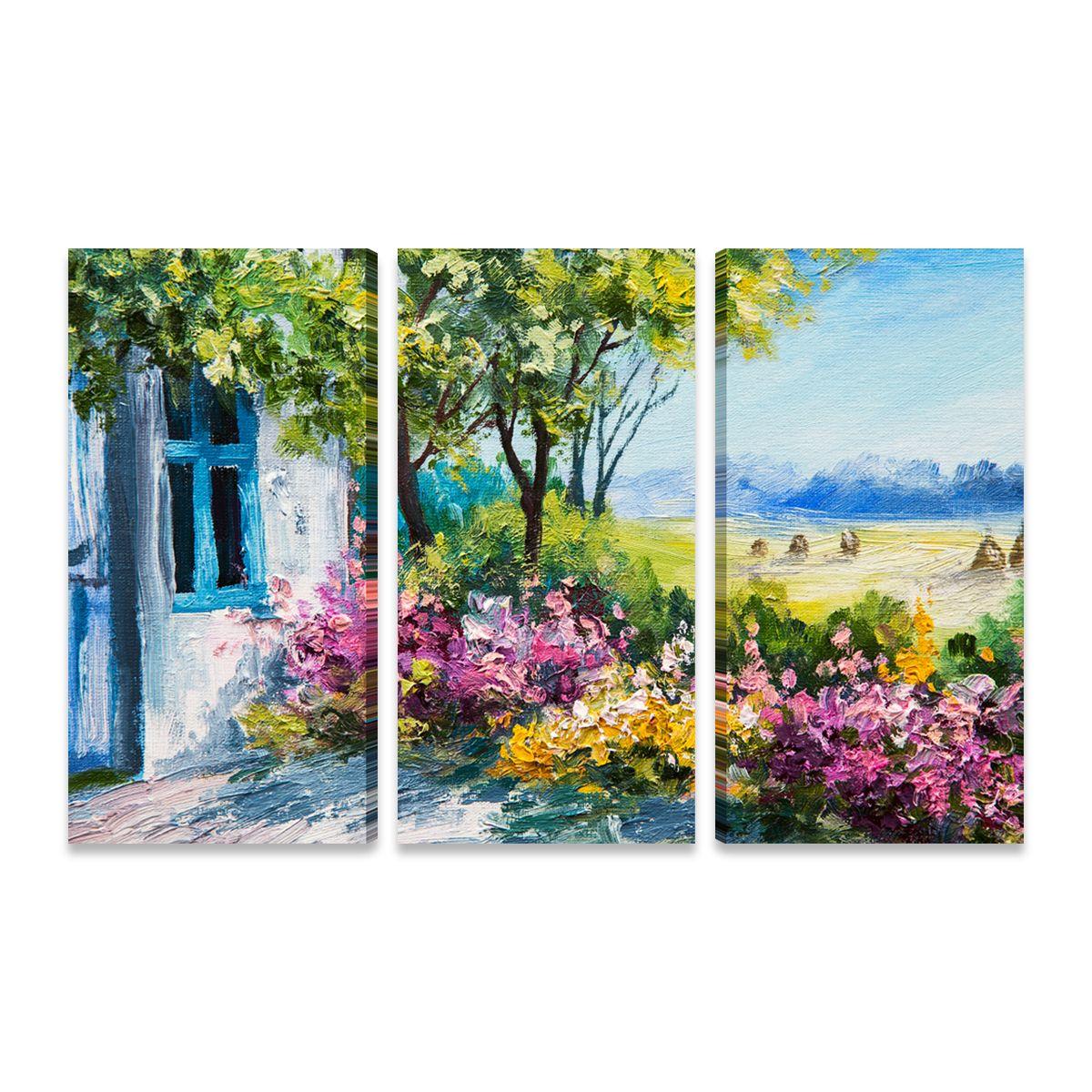 Mosaico de quadros abstrato Alegria Arte da paisagem