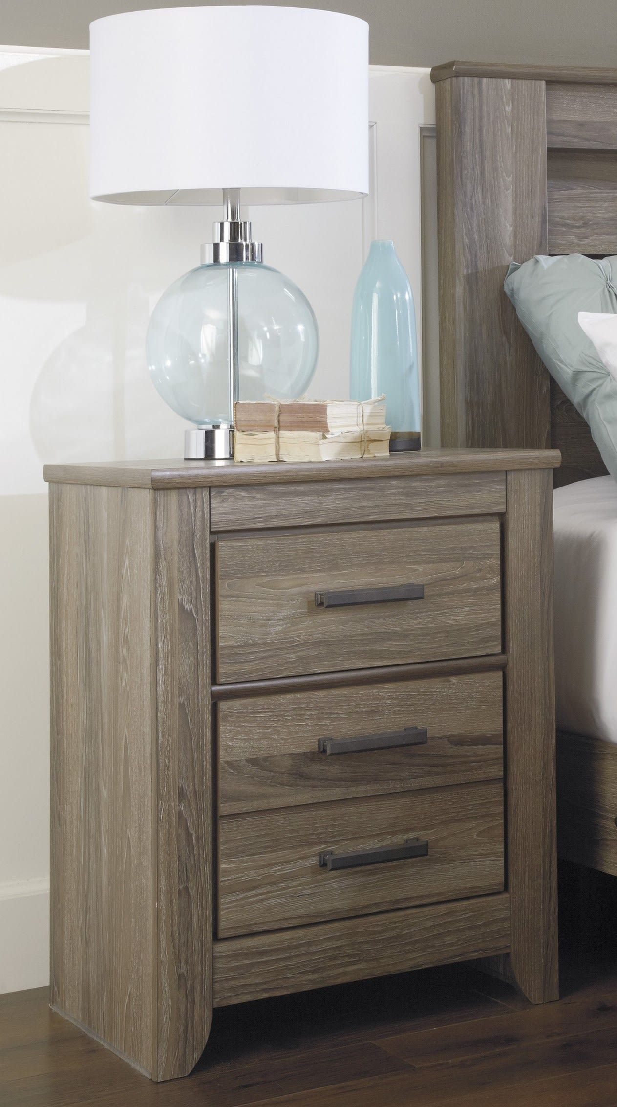Signature Design by Ashley Zelen Warm Gray Two Drawer