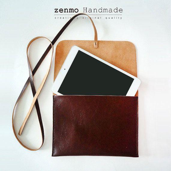 Handmade leather iPad Cover iPad Sleeve iPad case by ZenmoHandmade
