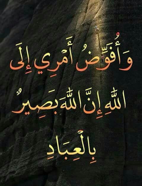 و افوض امري الى الله Quran Quotes Verses Quran Quotes Islamic Quotes