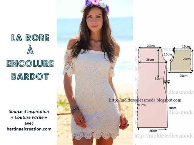 d3e8d9681b Made in france: Mode de l'été : Robe aux épaules dénudée tuto gratuit