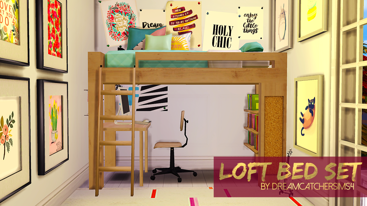 Loft bed set i made a little set for you space saving 4 beds in one room