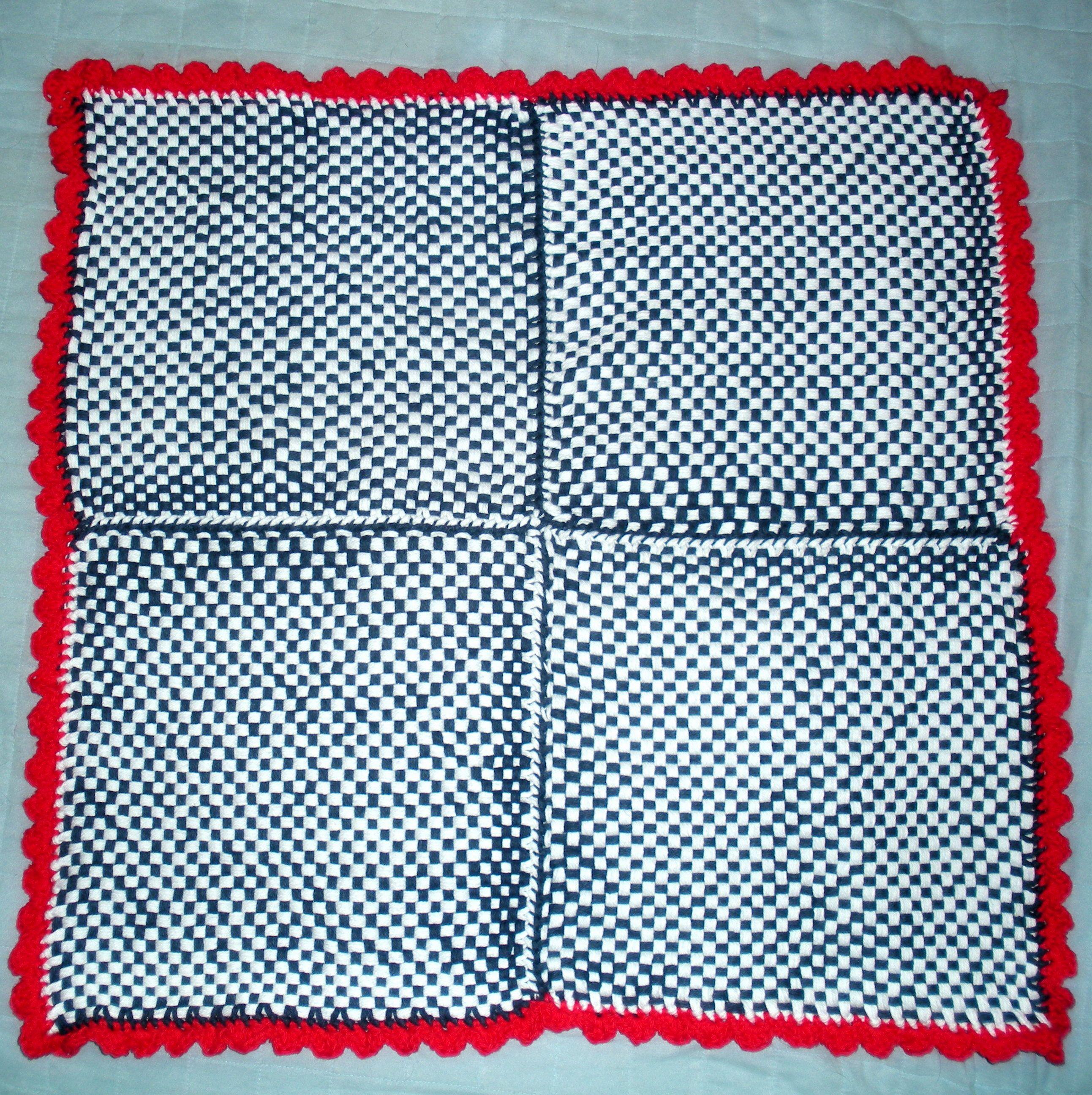 woven baby blanket with crochet ruffle trim - Martha Stewart Loom ... : martha stewart baby quilt - Adamdwight.com