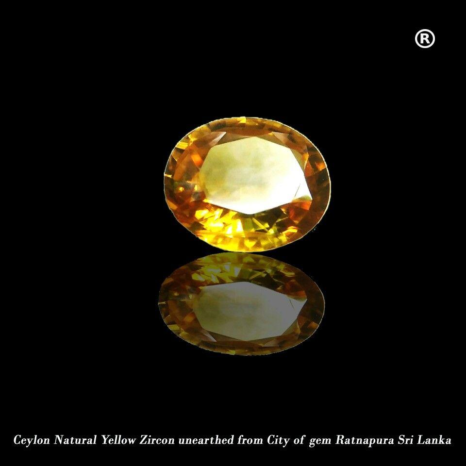 Ceylon Natural Orangish Yellow Zircon Its 74mm X 64mm 3mm Dimension Good Clarity