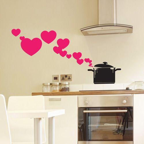 Vinilo para la cocina porque cocinar con amor sale m s - Vinilos para cocina ...