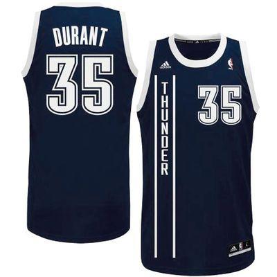 Mens Oklahoma City Thunder Kevin Durant adidas Navy Blue Replica Alternate  Jersey