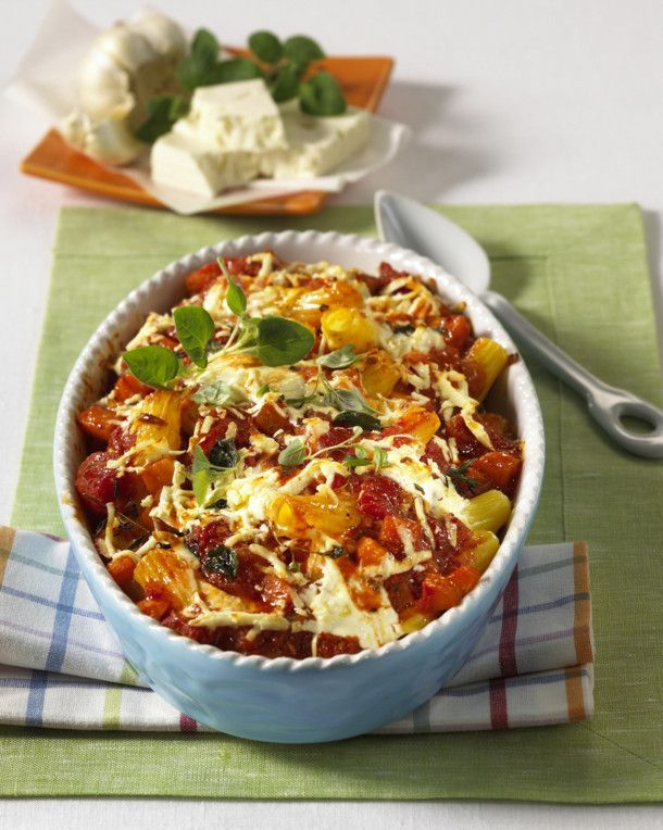 Photo of Tomato pasta bake with sheep's cheese recipe DELICIOUS