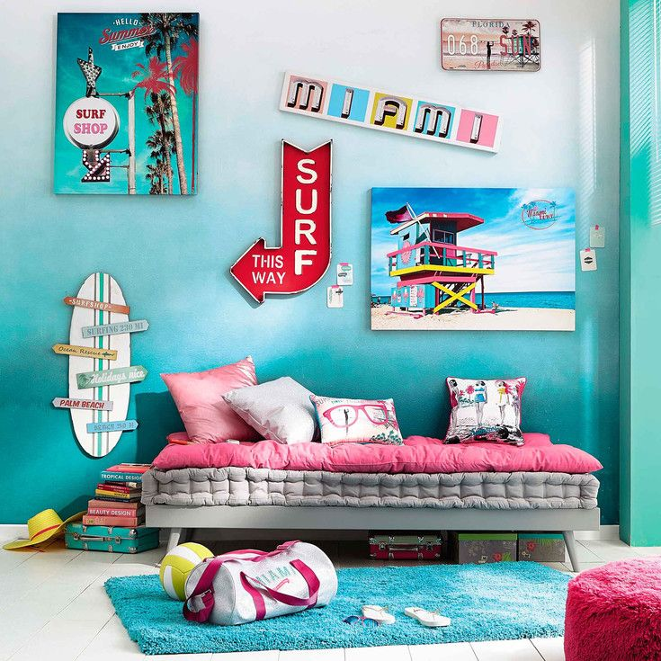 Epingle Par Charlotte Marin Sur South Beach Style Surf Bedroom