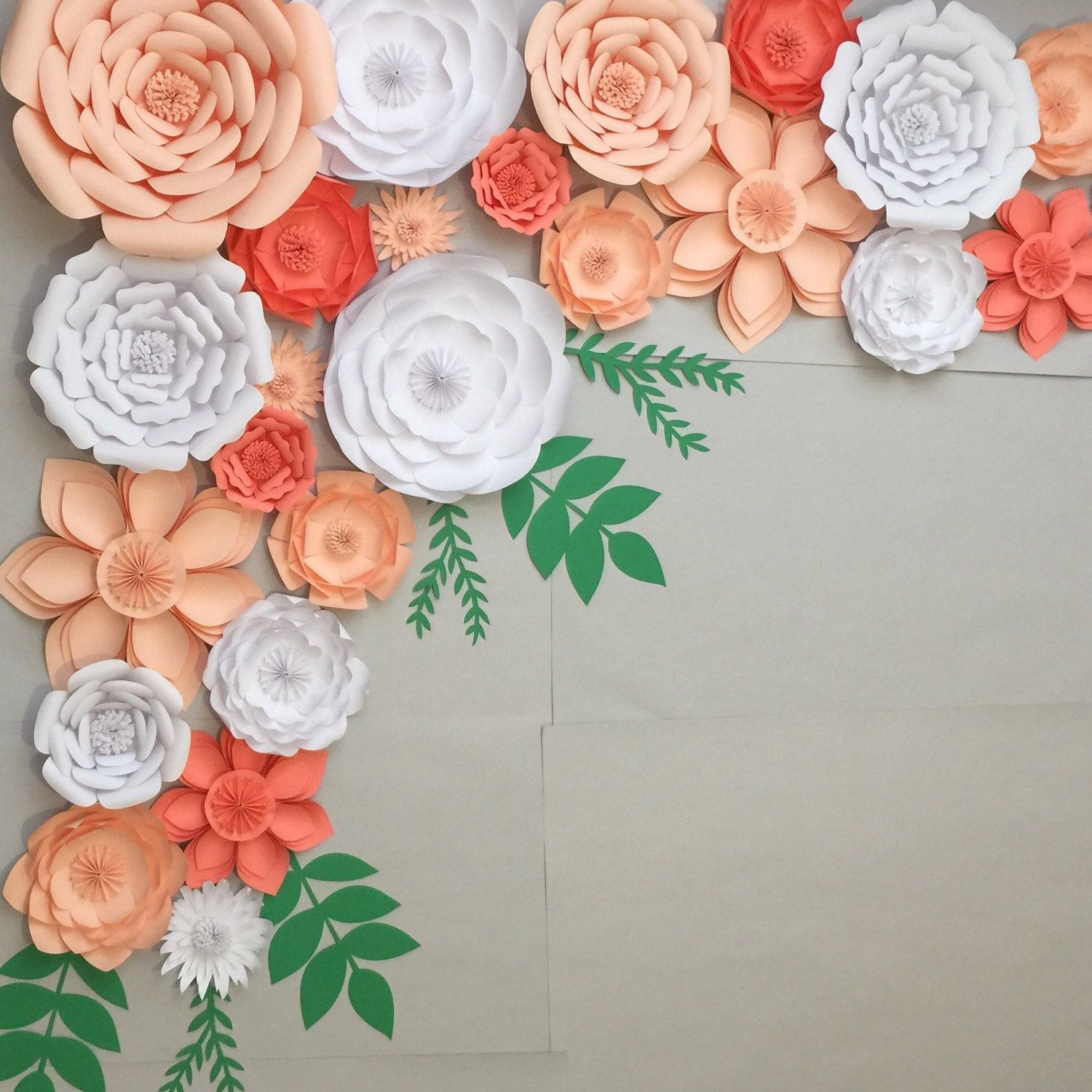 large paper flowers backdrop wedding arch photo booth flower wall