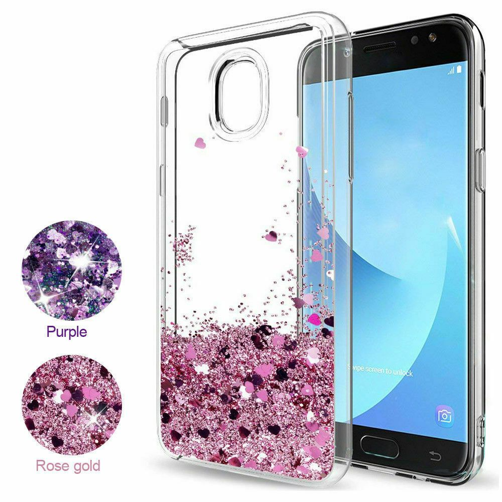 For Samsung Galaxy J7 Crown Moving Liquid Sparkly Bling Case