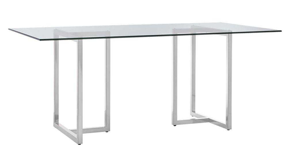 Amazing Silverado Chrome 80 Rectangular Dining Table Shawn Creativecarmelina Interior Chair Design Creativecarmelinacom