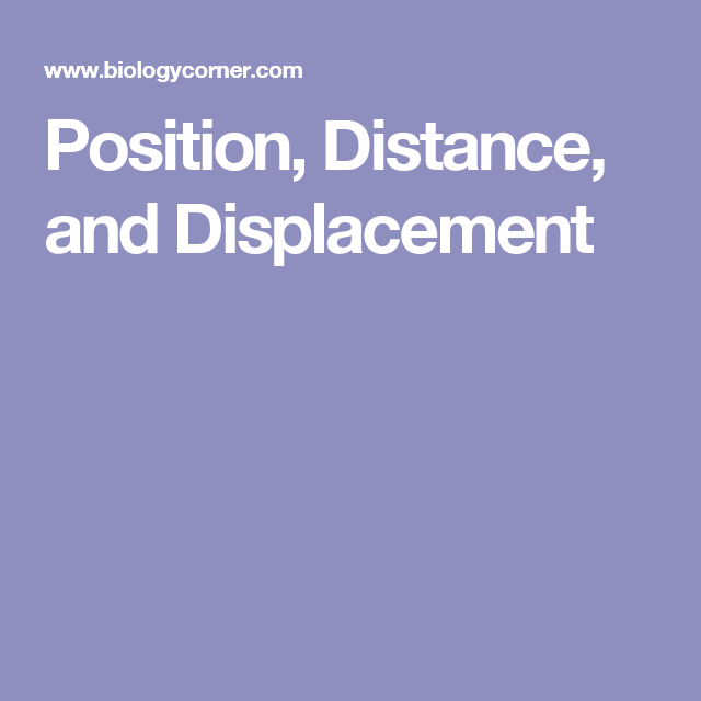 Science Physics Difference: Position, Distance, And Displacement