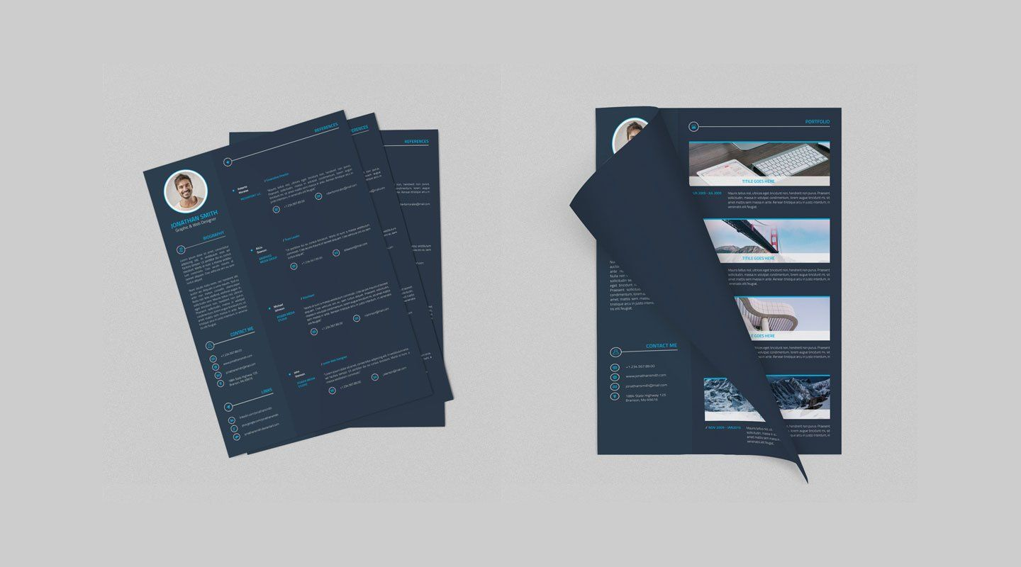 Best free resume templates in psd and ai in 2019 best