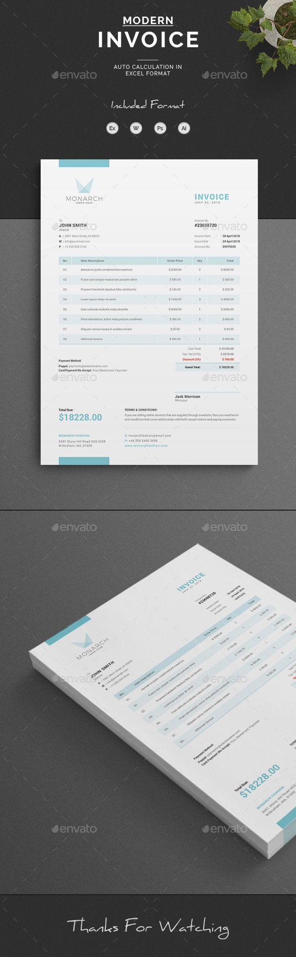 Invoice  Brand Identity And Purpose