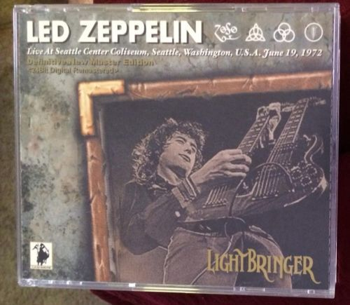 LED Zeppelin Lightbringer 3 CD RARE Cashmere Seattle June 19 1972