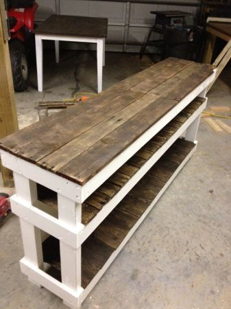 Craigslist Reclaimed Wood Table Shelves Repurposed Wood