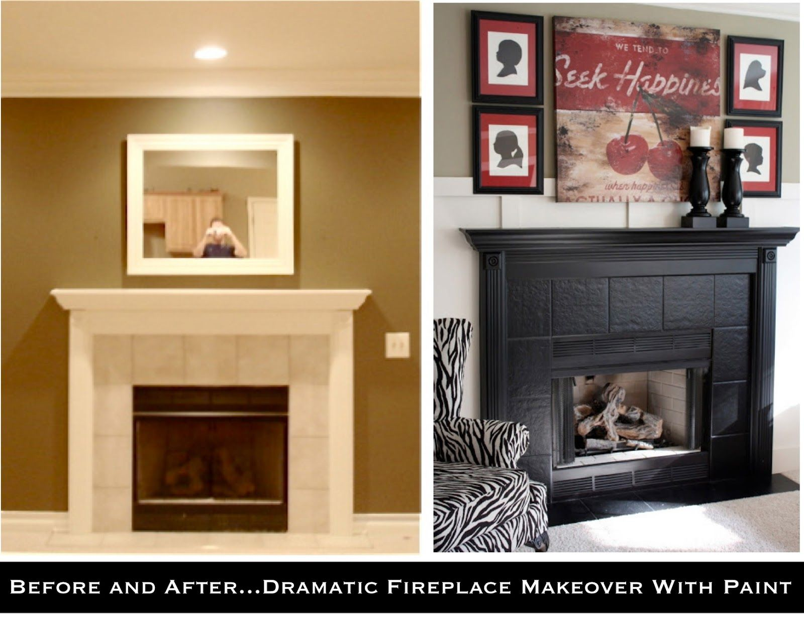 Diy Painted Fireplace Makeover