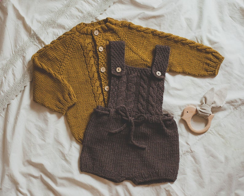 Photo of Knit Baby Romper – Newborn Romper – Baby Boy Romper – Organic Baby Clothes – Baby Knitwear – Knitted Baby Clothes – Wool Romper – Knitwear –