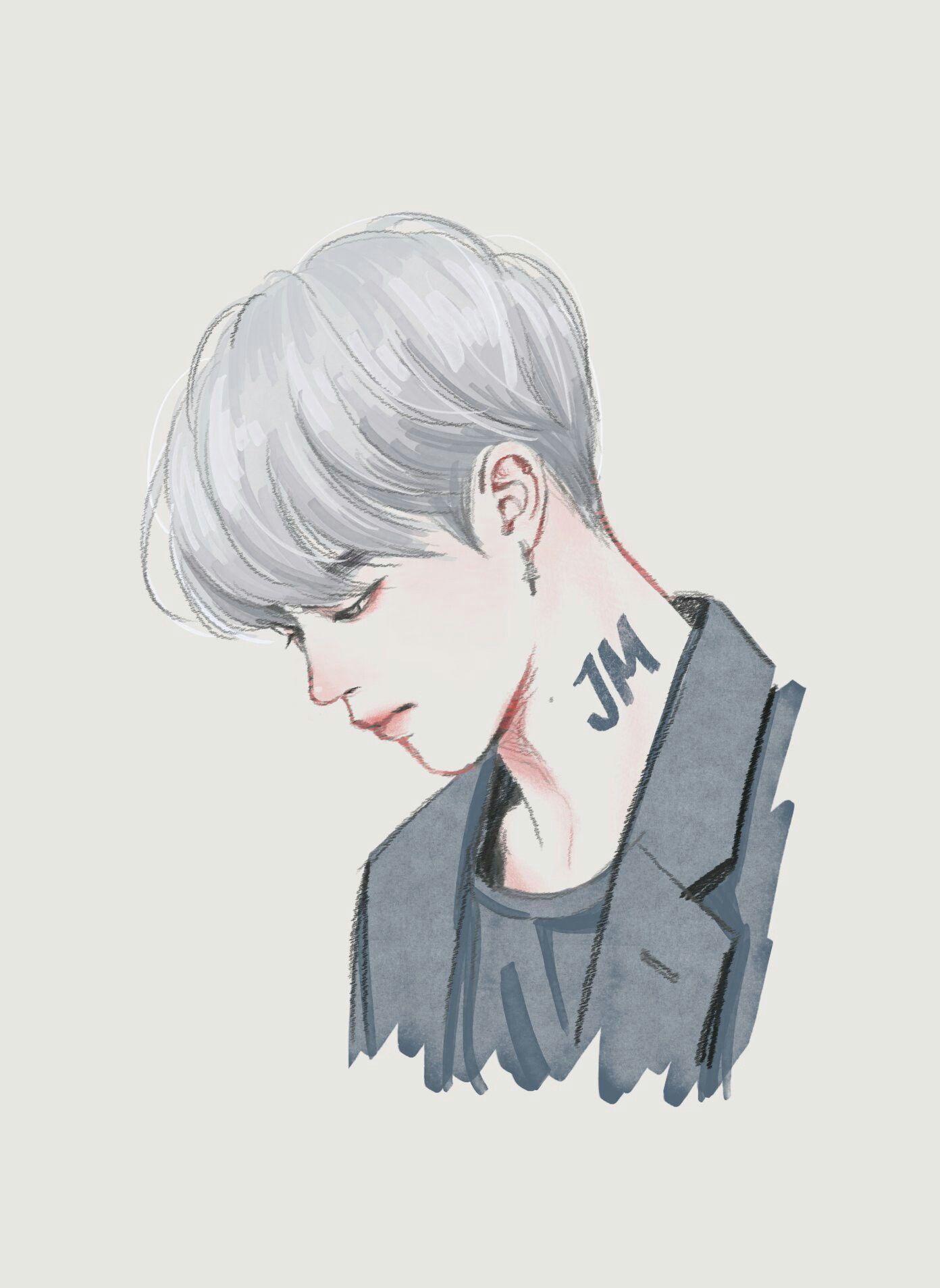 Jimin    Bts Fanart ♡   BTS   Pinterest   Dibujos de