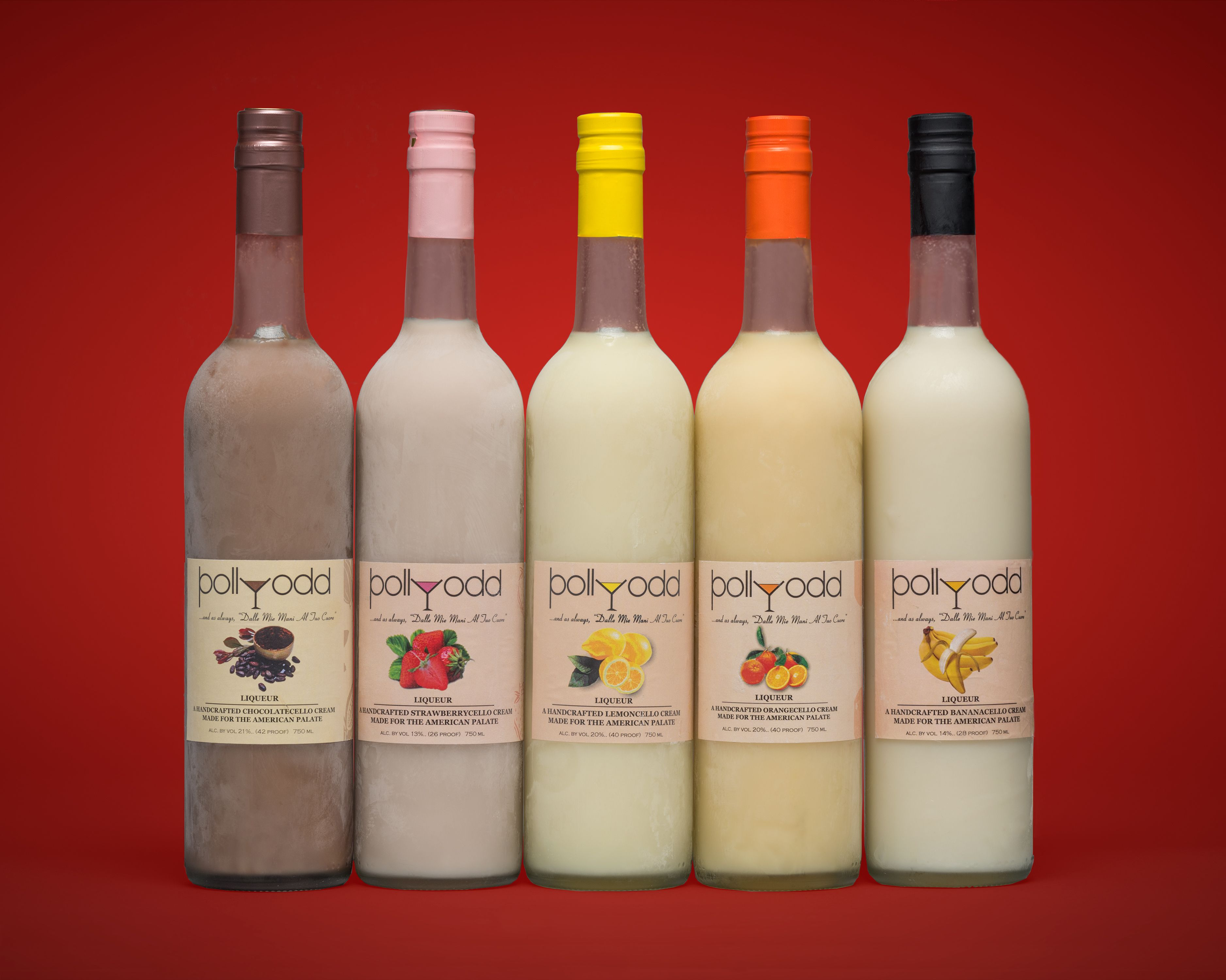 Pollyodd 5 Cream Based Cello Flavors Fantastic Liqueurs For Cocktails Made In Philadelphia Wine Bottle Cocktail Making Rose Wine Bottle
