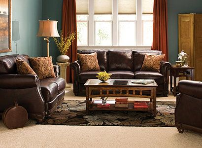 Living Room Colors To Go With Brown Furniture alexander traditional leather living room collection | design tips