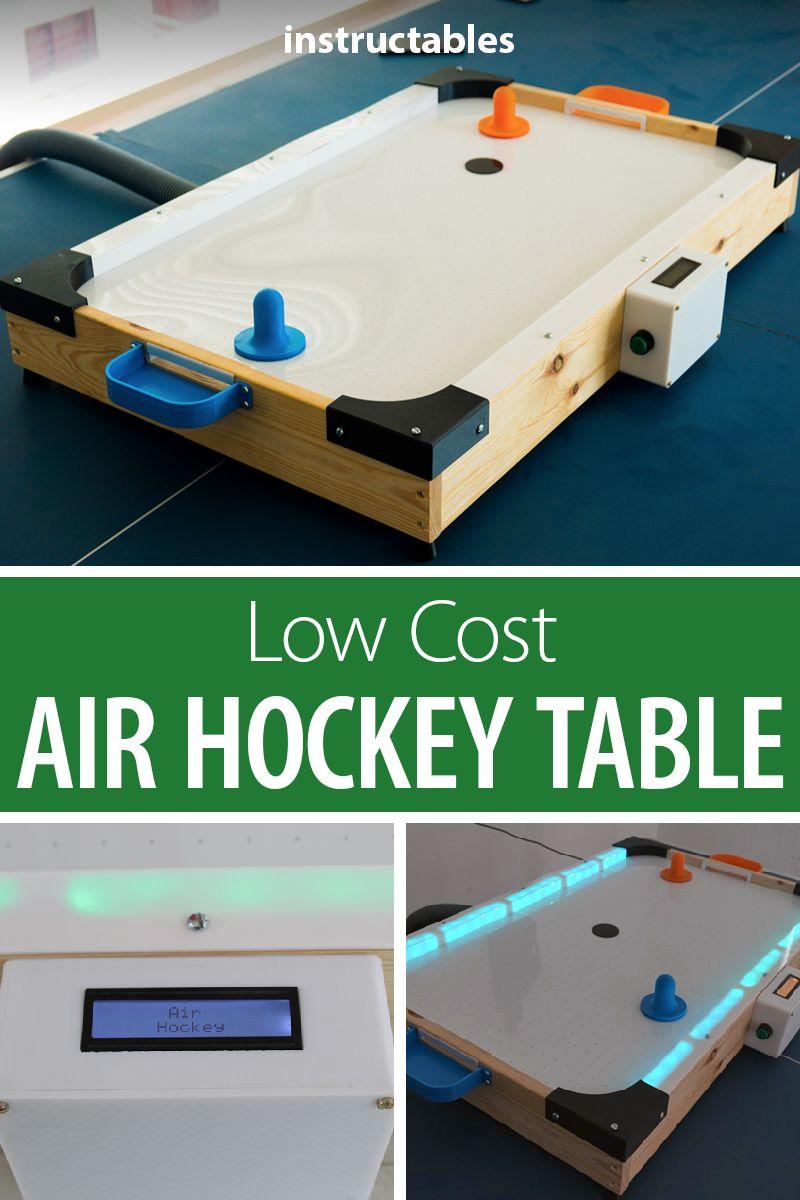 Diy Low Cost Air Hockey Table Air Hockey Table Air Hockey Diy