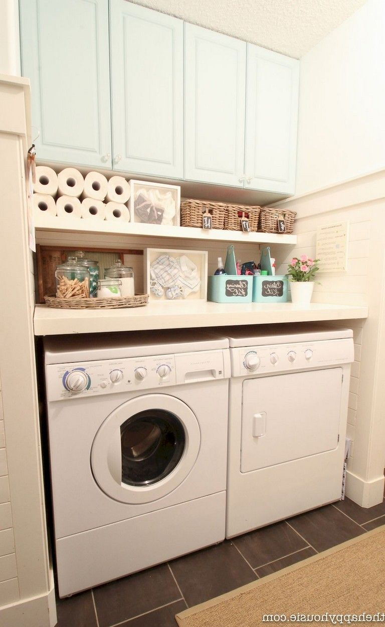 Kitchen With Laundry Ideas New 12 Amazing Small Laundry Room Storage And Organization 8656 2