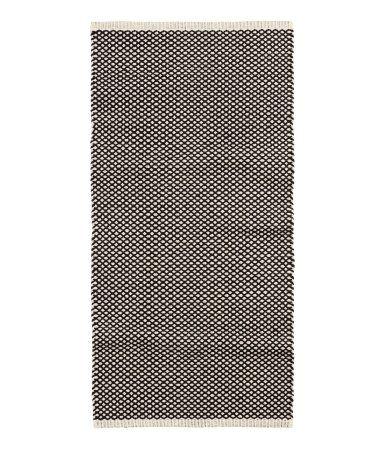 Jacquardvævet bomuldsgulvtæppe | Hvid/Antracitgrå | Home | H&M DK