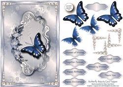 Butterfly Beauty Card Topper 3