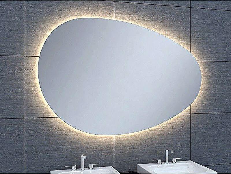 Miroir De Salle De Bains Avec Eclairage Led Modele Ovo 120 80 Cm X 120 Cm Hxl Mirror Homemade Halloween Decorations Led