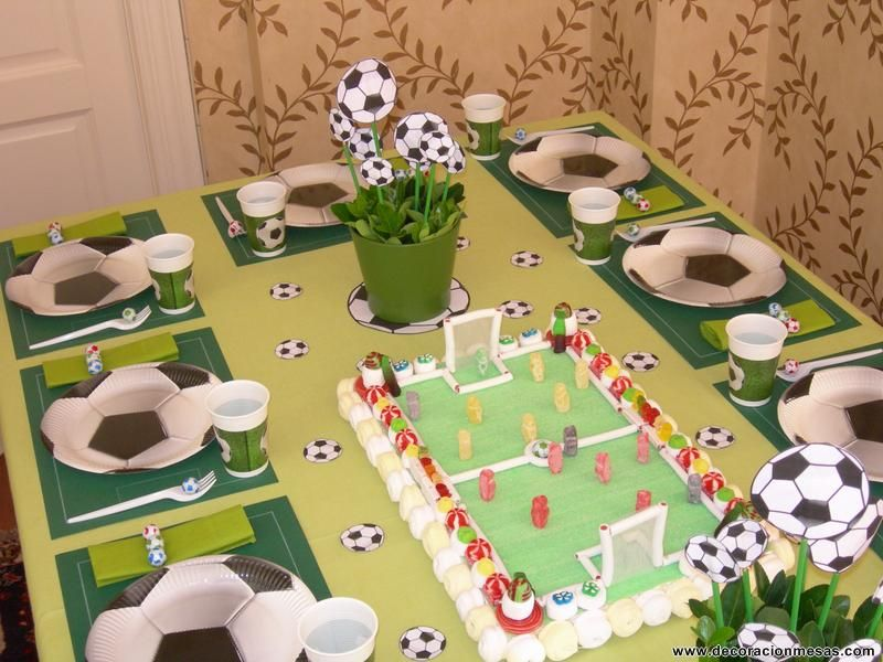 Mesa para futbolistas fiestas infantiles pinterest - Ideas fiesta cumpleanos infantil ...