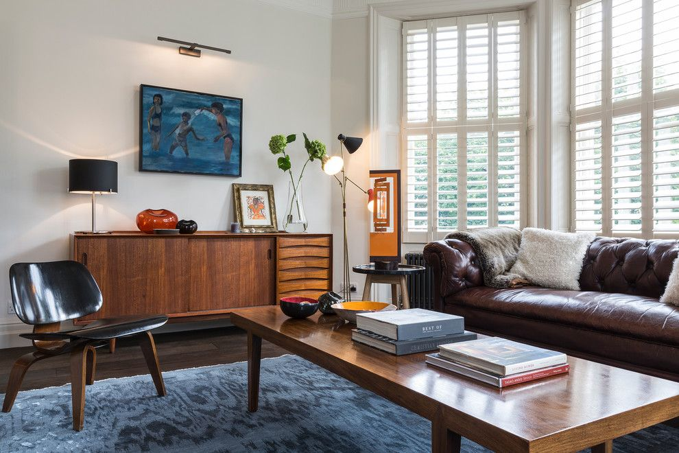 Mid Century Modern Credenza Living Room Traditional With Area Rug