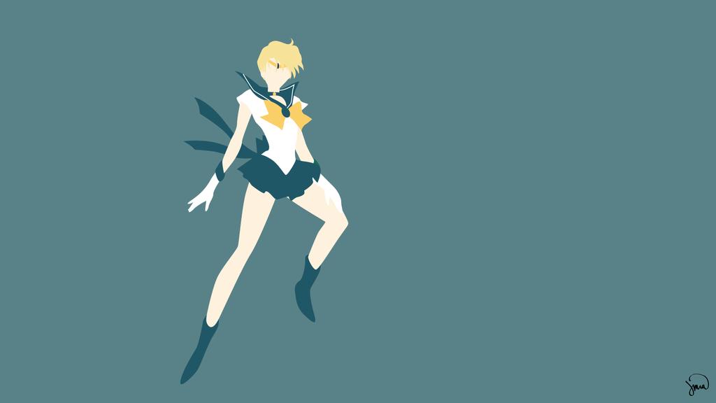 Sailor Uranus Sailor Moon Minimalist Wallpaper Sailor Moon Character Sailor Uranus Sailor Moon Crystal