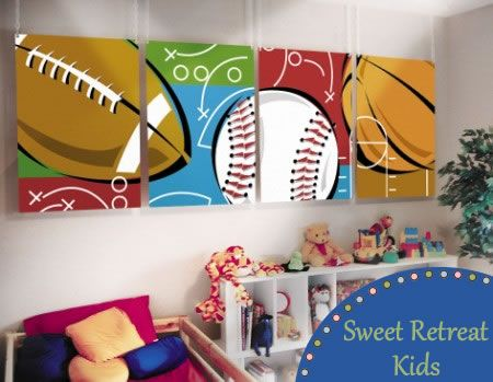 Sports Theme Boys Room Sports Room Decor Kids Sports Room Room Themes