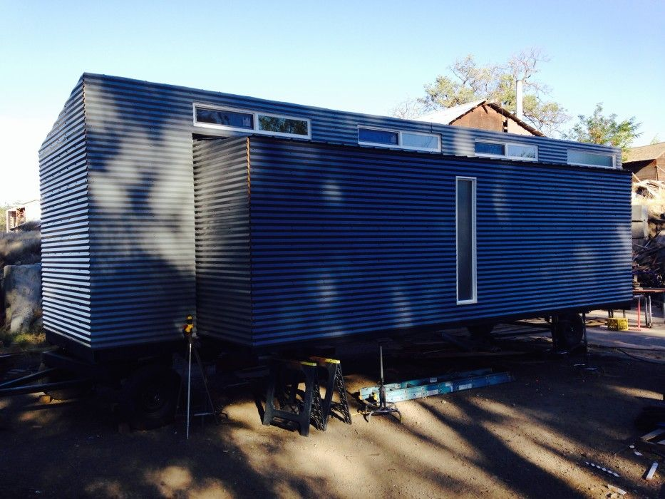 Completed Metal Siding Without Trim Metal Siding Siding Options Exterior