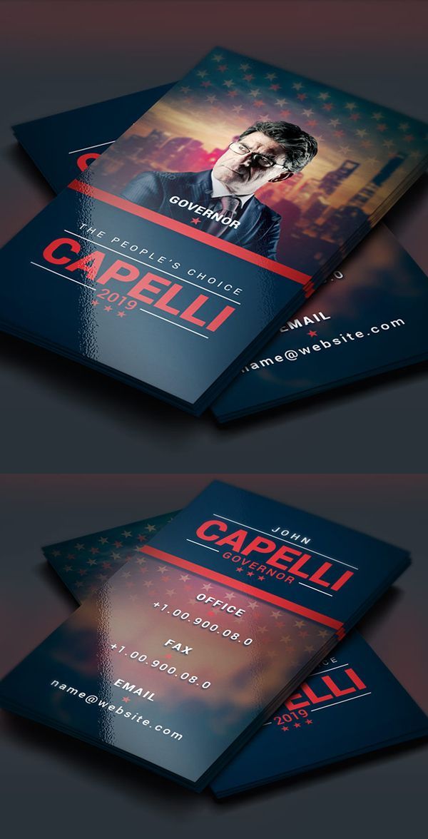 Political election business card graphic design pinterest political election business card colourmoves