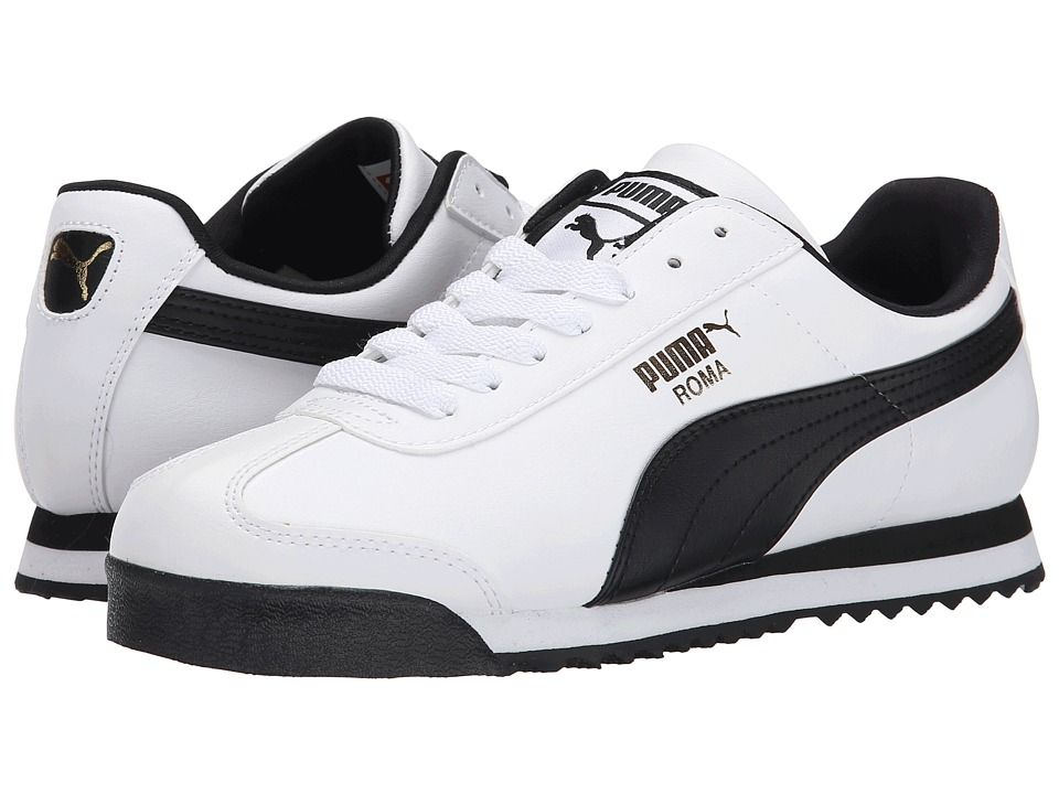 PUMA Roma Basic Men s Shoes White Black 115382d10