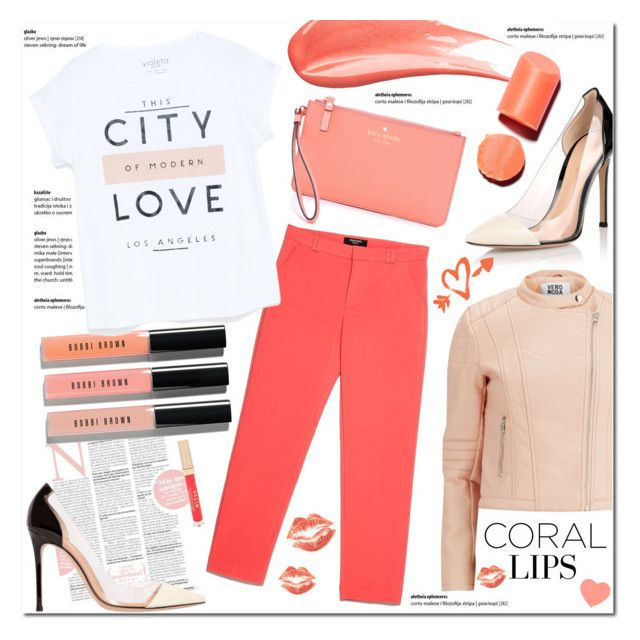 """Coral Beauty"" by justlovedesign ❤ liked on Polyvore"