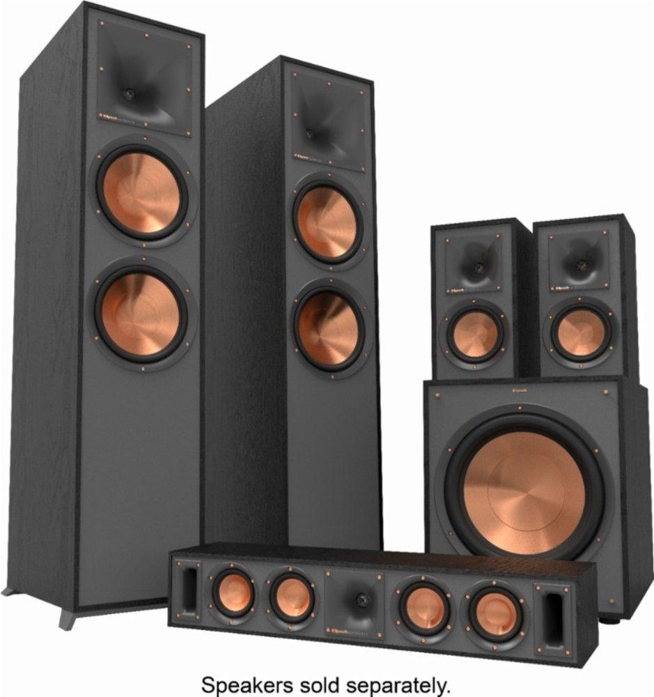 Klipsch Reference Series Dual 8 600 Watt Passive 2 Way Floor Speaker Each Black 1065833 R 820 F Best Buy Klipsch Klipsch Reference Floor Speakers