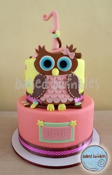 owl cake Baked Twinkles by design Pinterest Owl cakes Owl and