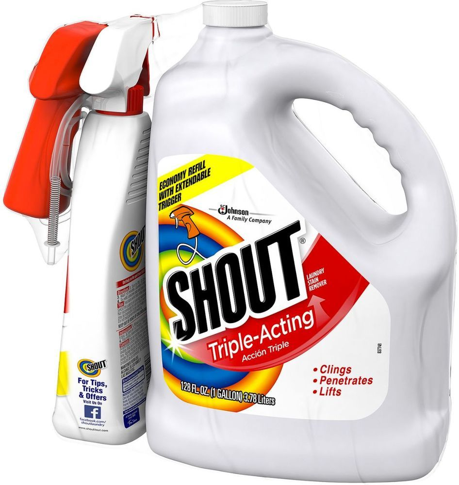 Shout Stain Remover Cleaner Washer Dryer Laundry Clothes Care