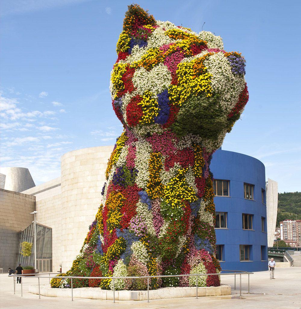 Coloring book by jeff koons - Puppy At The Entrance Of Guggenheim Museum Bilbao Sapin 1992 By Jeff Koons